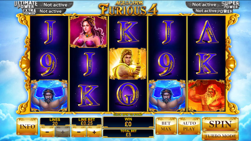 Age of the Gods Furious Four Slot