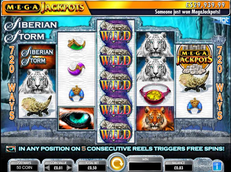 MegaJackpots Siberian Storm Slot