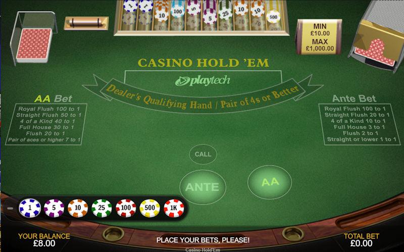 Playtech Casino Holdem Poker