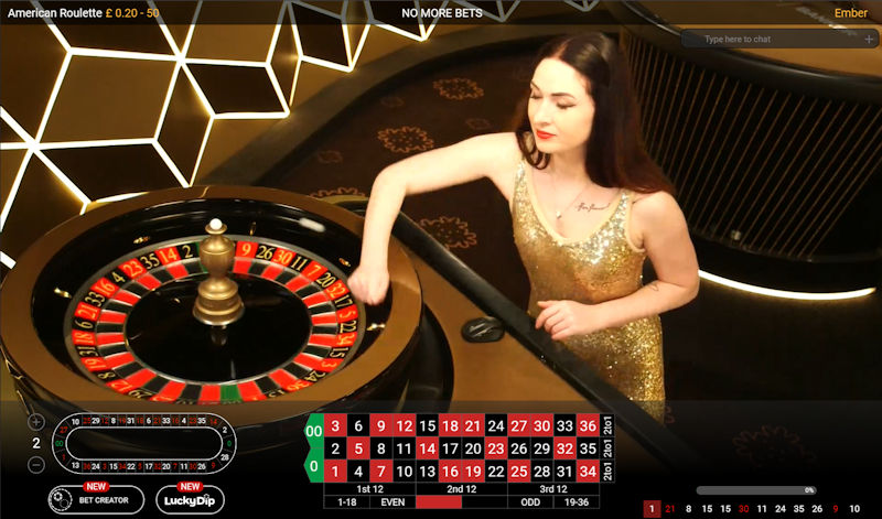Playtech Live American Roulette