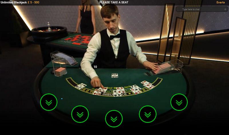 Playtech Live Unlimited Blackjack